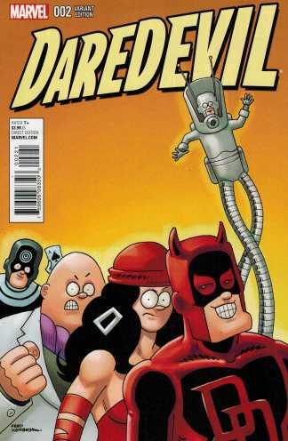 Daredevil #2 1:10 Fred Hembeck Variant Marvel ANAD 2015
