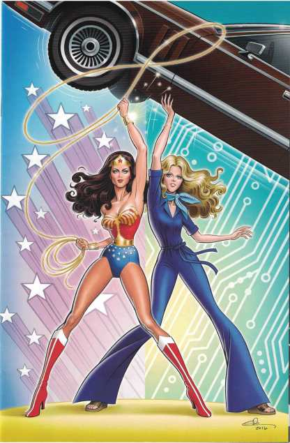 Wonder Woman '77 Meets the Bionic Woman #3 1:25 Glen Hanson Virgin Variant D.E.