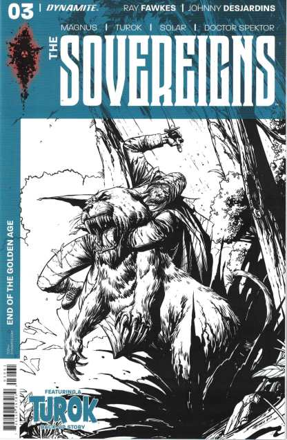 The Sovereigns #3 1:20 Johnny Desjardins B&W Variant Dynamite 2017