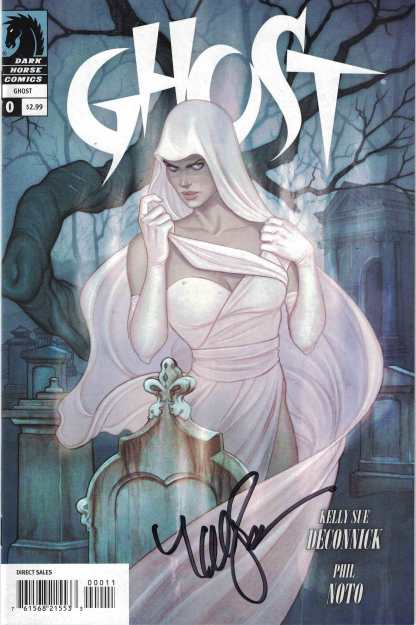 Ghost #0 Jenny Frison Signed by Kelly Sue Deconnick (Writer) Dark Horse 2012