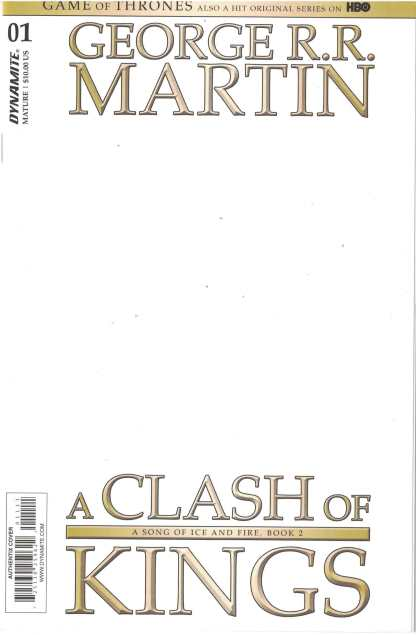 Game of Kings Clash of Kings #1 Blank Authentix Variant Dynamite 2017