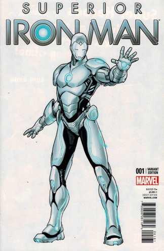 Superior Iron Man #1 1:25 Sara Pichelli Variant ANMN Marvel 2014