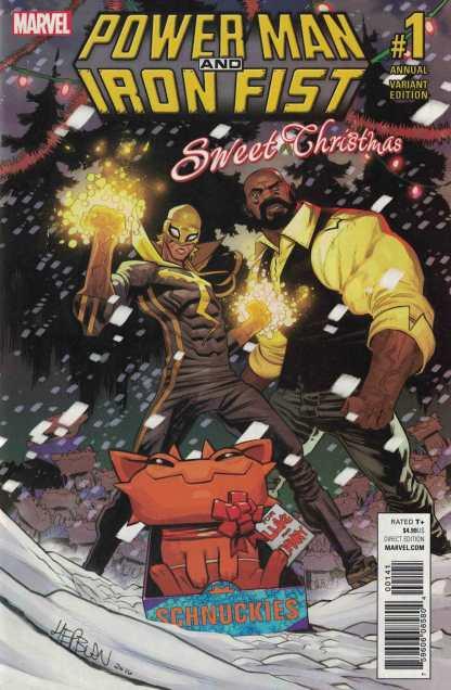 Power Man and Iron Fist Sweet Christmas Annual #1 1:25 Hepburn Variant 2016