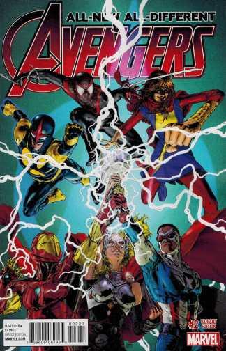 All New All Different Avengers #2 1:25 Oscar Jimenez Variant Marvel ANAD 2015