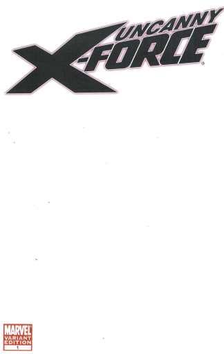Uncanny X-Force #1 Blank Sketch Variant Marvel 2010 Remender X-Men