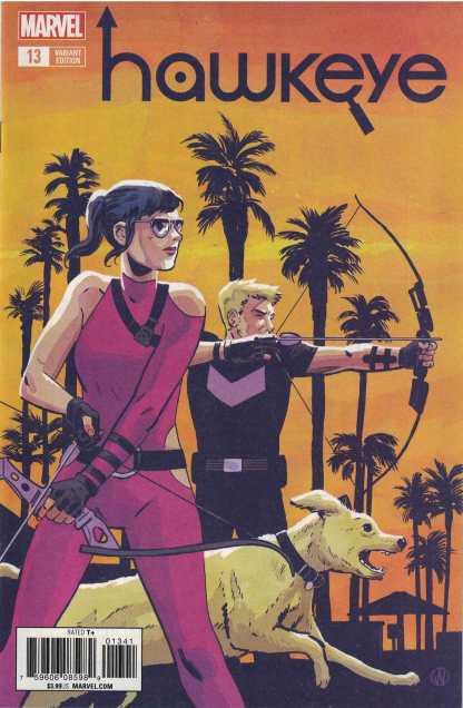 Hawkeye #13 1:25 Michael Walsh Variant Marvel Legacy 2016 Kate Bishop