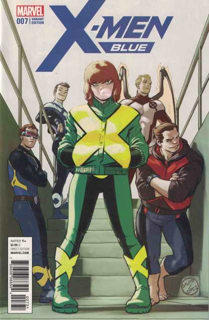 X-Men Blue #7 1:25 David Lopez Variant Marvel 2017