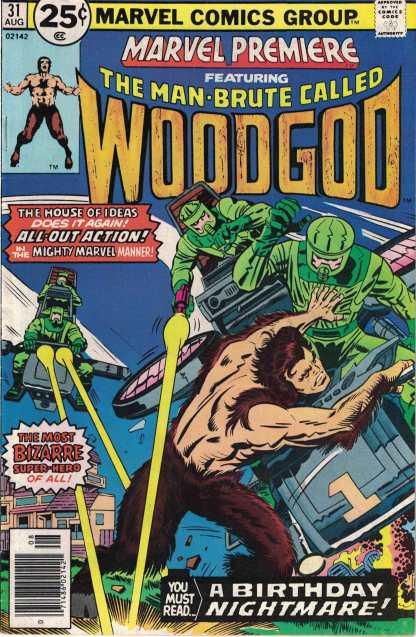 Marvel Premiere #31 Man Brute Called Woodgod Bronze 1976