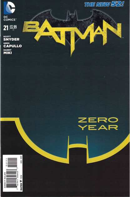 Batman #21 Cover A 1st Print Greg Capullo Scott Snyder DC New 52 Zero Year