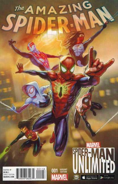 Amazing Spider-Man #1 1:10 Unlimited Game Variant Marvel ANAD 2015