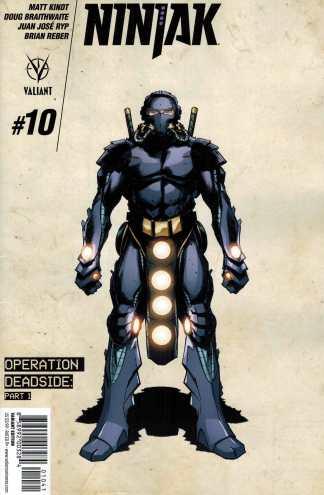 Ninjak #10 1:10 Trevor Hairsine Design Variant Cover D Valiant 2015