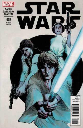 Star Wars #2 1:25 Lenil Francis Yu Variant Marvel 2015 Luke Skywalker Leia Han