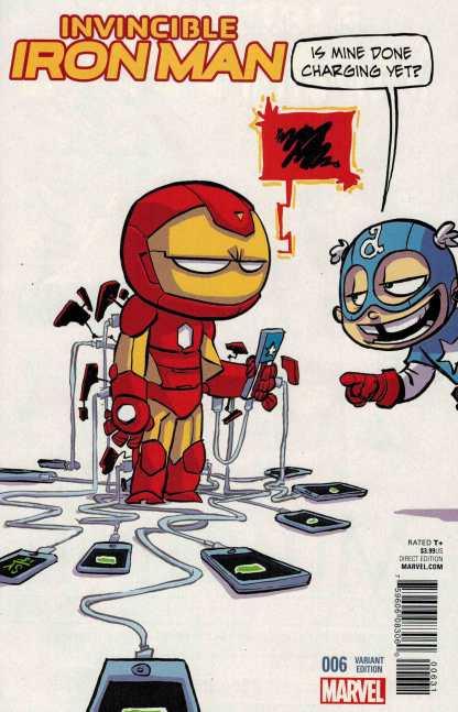 Invincible Iron Man #6 Skottie Young Marvel Babies Variant ANAD 2015