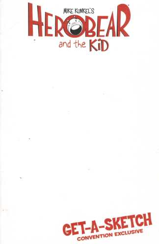 Herobear and the Kid #1 Special Get-A-Sketch Blank Convention Exclusive Variant