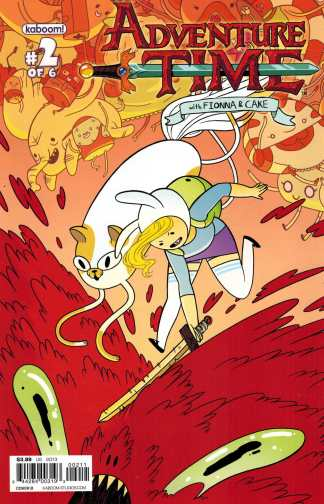 Adventure Time with Fionna and Cake #2 Cover B Variant First Print Kaboom HTF