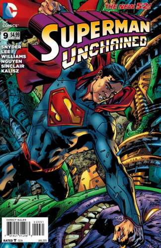 Superman Unchained #9 1:50 Bryan Hitch Wrap Variant DC New 52