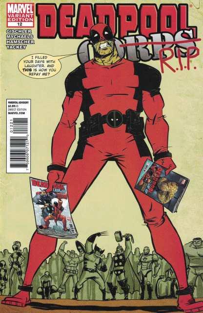 Deadpool Corps #12 Skottie Young Variant Marvel 2009 Neal Adams Homage