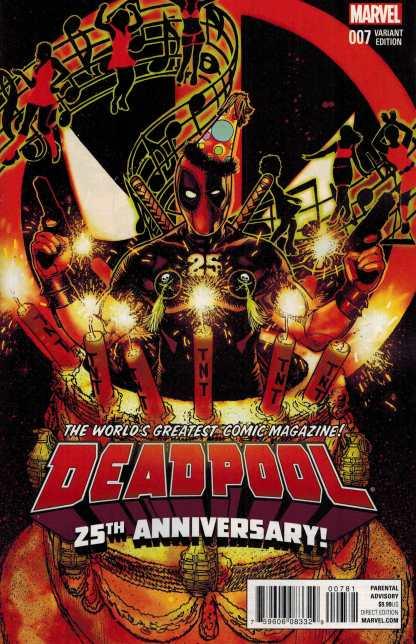 Deadpool #7 Tony Harris 25th Anniversary Variant Marvel ANAD 2015