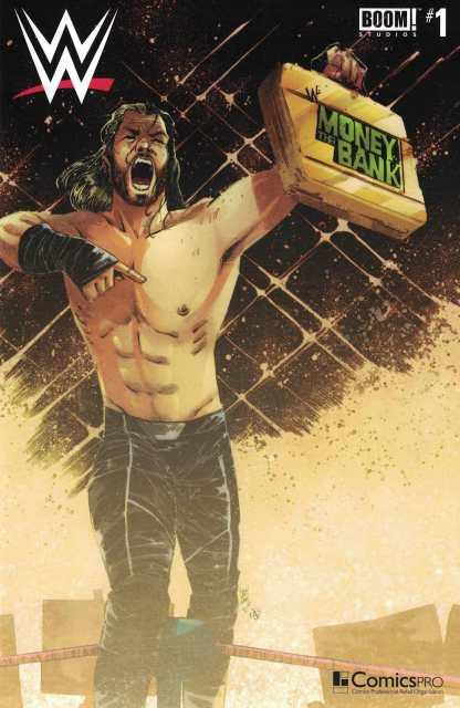WWE #1 Henderson Seth Rollins Money Bank Variant 2017 Comicspro Exclusive