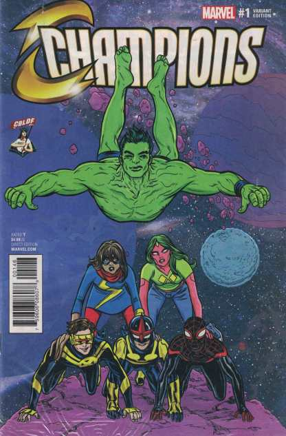 Champions #1 Mike Allred CBLDF Exclusive Variant NOW Marvel 2016