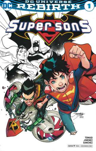 Super Sons #1 Comicspro Exclusive Partial Sketch Variant DC 2017