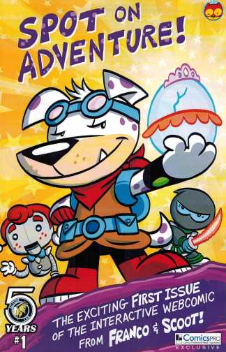 Spot on Adventure #1 Comicspro Exclusive Variant Action Lab