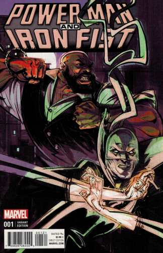 Power Man and Iron Fist #1 1:25 Visions Variant Marvel ANAD 2016