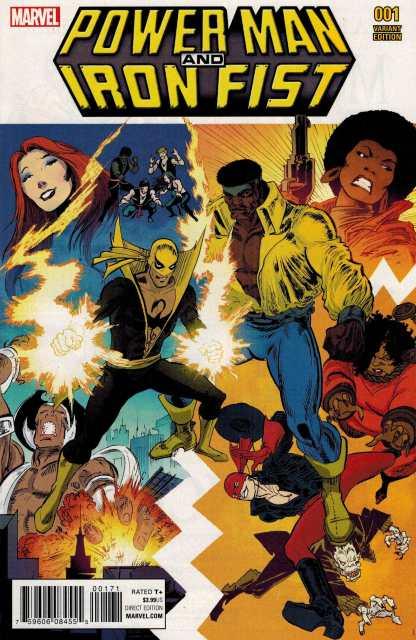Power Man and Iron Fist #1 1:25 Von Eeden Classic Variant ANAD 2016