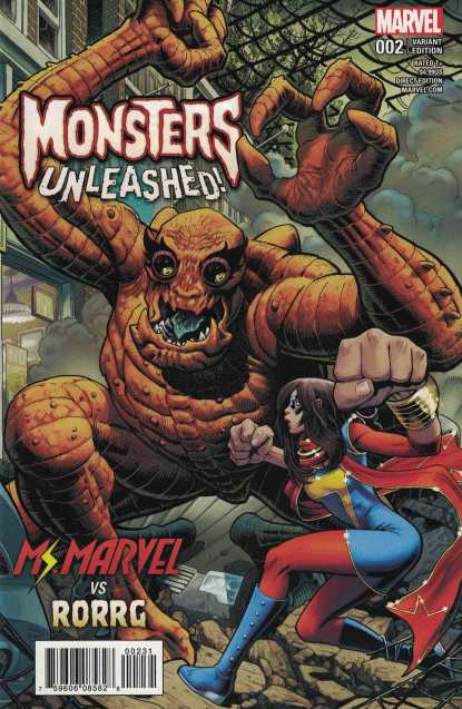 Monsters Unleashed #2 1:100 Art Adams Variant NOW Ms Marvel 2017