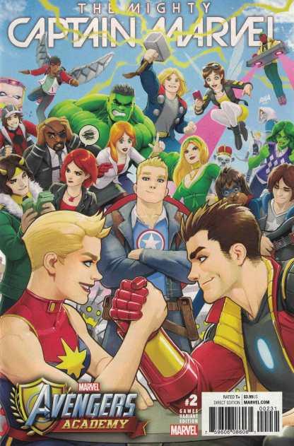 Mighty Captain Marvel #2 1:25 Nakayama Games Variant NOW Avengers Academy 2017
