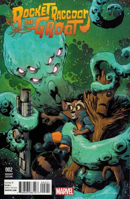 Rocket Raccoon and Groot #2 Kesigner Variant Marvel ANAD 2016 Guardians