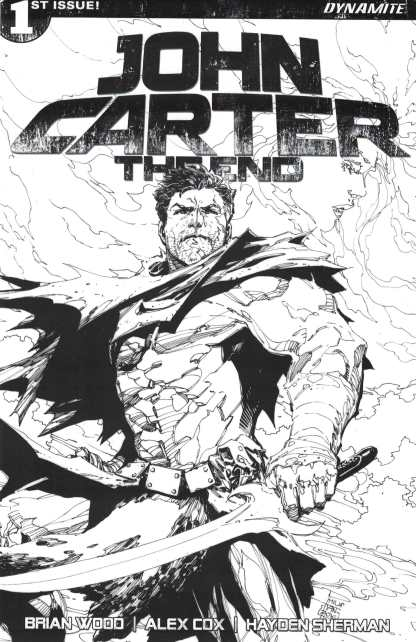 John Carter the End #1 1:50 Tan Black and White Sketch Variant Dynamite 2017