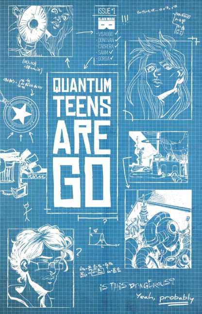 Quantum Teens Are Go #1 1:10 Variant Black Mask 2017
