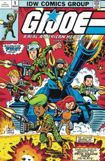 GI Joe Real American Hero #1 NCComicon Exclusive Giarrusso Variant Marvel 1982