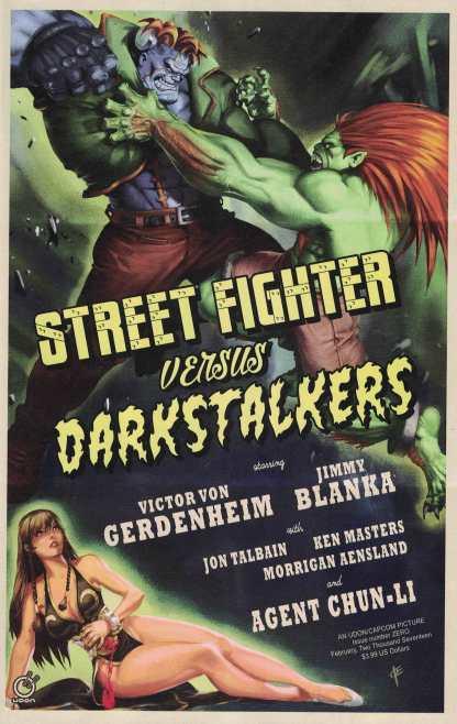 Street Fighter vs Darkstalkers #0 1:10 Vriens Variant Cover C Udon 2017
