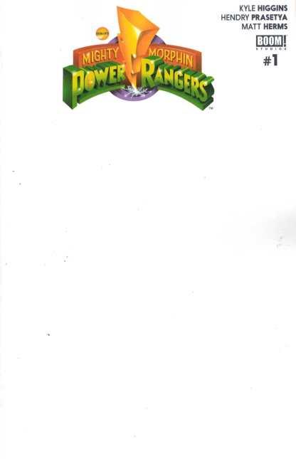 Mighty Morphin Power Rangers #1 Blank Get-A-Sketch Unlock Variant Boom! 2016