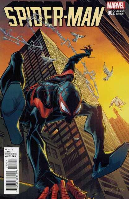 Spider-Man #2 1:25 Randolph Variant Marvel ANAD 2016 Miles Morales