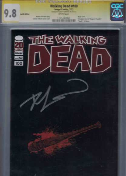 The Walking Dead #100 Lucille Edition CGC Graded 9.8 Signed Robert Kirkman