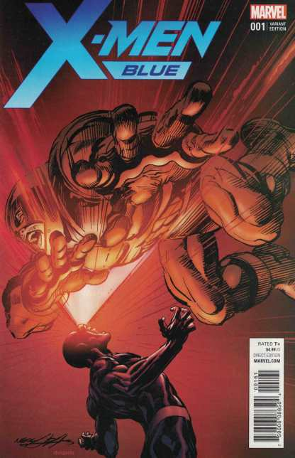 X-Men Blue #1 1:25 Neal Adams Variant Marvel 2017 Juggernaut Cyclops
