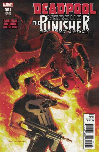 Deadpool vs Punisher #1 1:10 Greg Hildebrandt Variant Marvel 2017