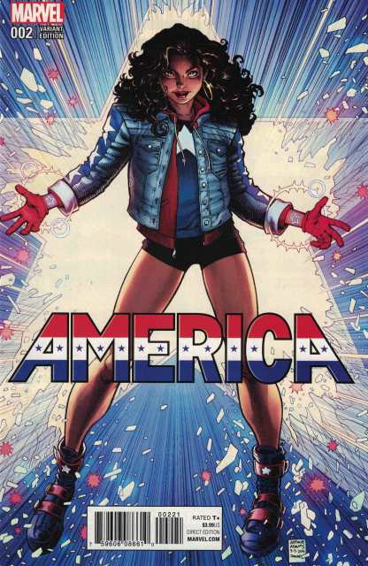 America #2 1:50 Arthur Adams Variant Marvel 2017 HTF Chavez
