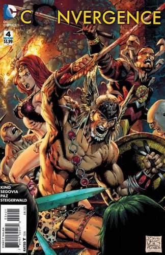 Convergence #4 1:10 Tony Daniel Variant DC Comics 2015 Warlord