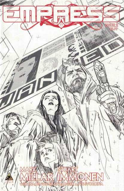 Empress #2 1:200 Stuart Immonen Sketch Variant Mark Millar Marvel Icon 2016