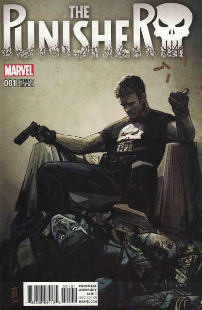 Punisher #1 1:25 Alex Maleev Variant Marvel ANAD 2016 Cloonan Dillona
