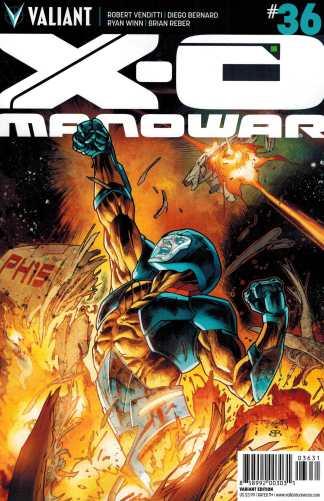 X-O Manowar #36 1:10 Stephen Segovia Variant Valiant