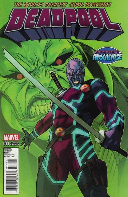 Deadpool #11 Andrasofszky Age of Apocalypse Variant Marvel ANAD 2015 AOA