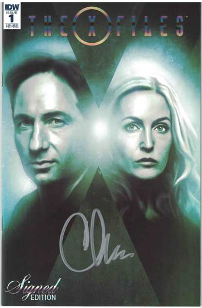 X-Files #1 1:50 Chris Carter Signed Edition Foil Variant HTF Rare IDW 2016