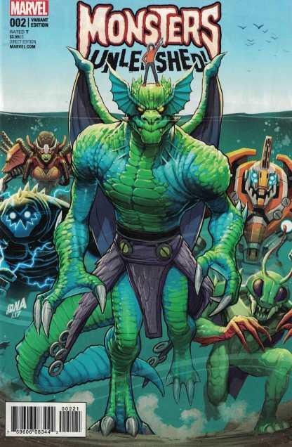 Monsters Unleashed #2 1:25 David Nakayama Variant Marvel 2017