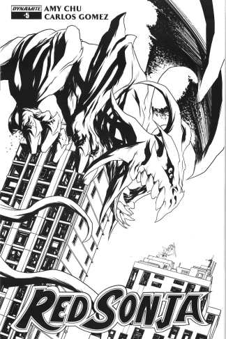 Red Sonja #5 1:20 Mike McKone B&W Sketch Variant Cover G Dynamite 2017