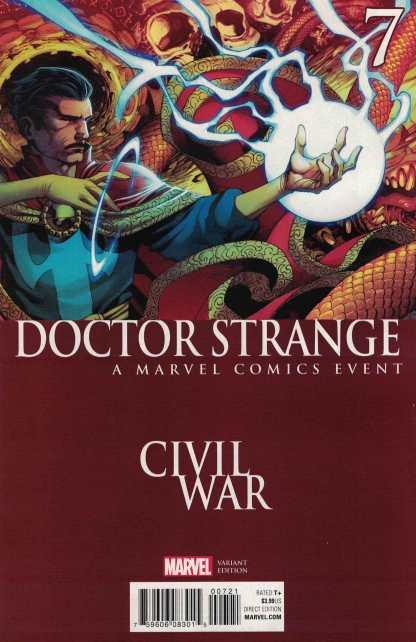 Doctor Strange #7 Stevens Civil War Variant Marvel ANAD 2015